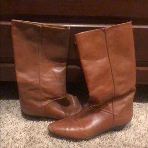 Frye Cognac Mid Calf Boots 7.5